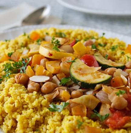 Seven-vegetable couscous for Jewish New Year