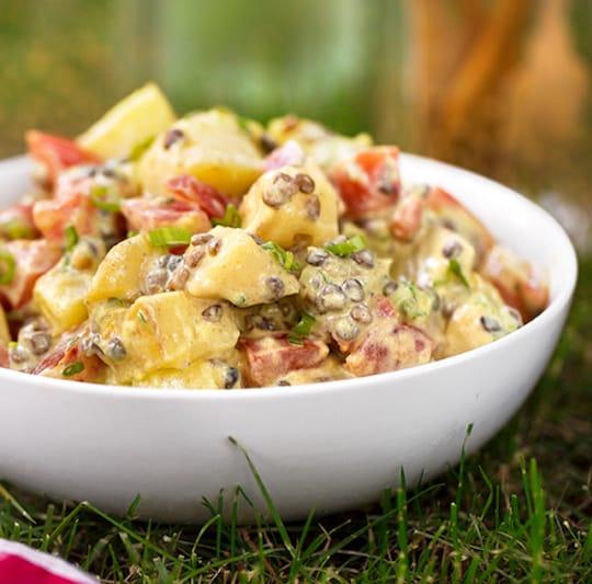Potato and lentil salad recipe
