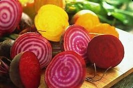 beet varieties — red, golden, chiogga