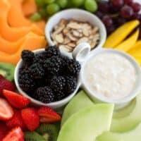 composed fresh summer fruit platter