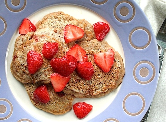 Vegan Strawberry Pancakes recipe