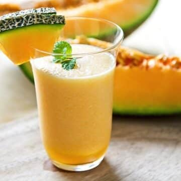 Cantaloupe creamsicle smoothie