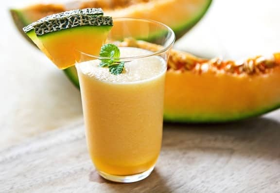 Cantaloupe creamsicle smoothie