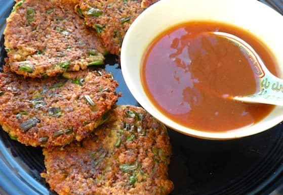 Quinoa Fritters with Duck Sauce