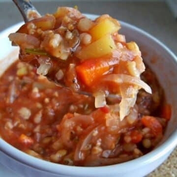 four-grain tomato soup