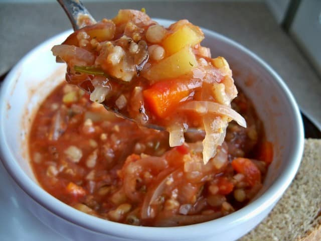 four-grain tomato soup