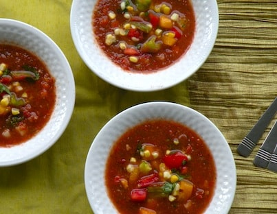 Fresh tomato gazpacho