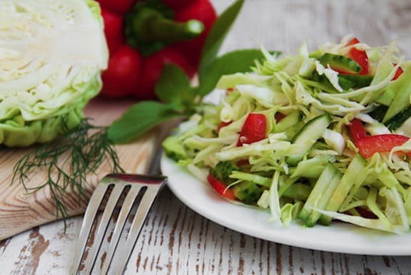 Cabbage and red pepper slaw recipe