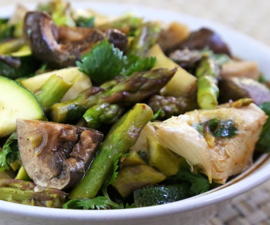 Asparagus, Mushroom, and Artichoke appetizer recipe