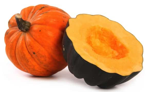 Acorn and golden acorn squash