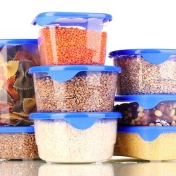 Pantry staples -grains, beans, pasta