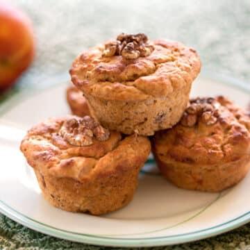 Gingery Peach or Nectarine muffins - vegan