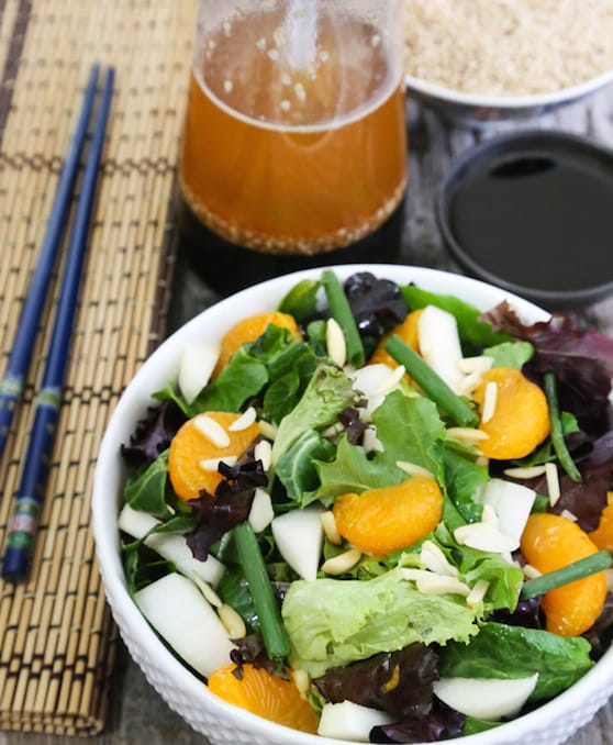 MIxed greens salad with an Asia Spin recipe