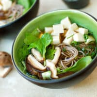 Soba Noodle Soup with Tofu & Greens