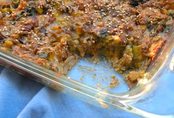 Vegetable bread pudding recipe