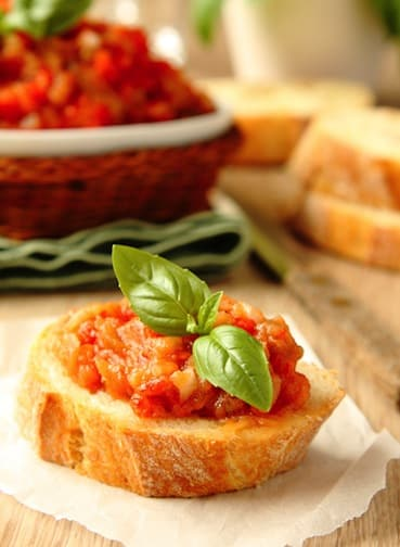 Eggplant and tomato spread