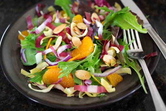 Spring greens with endives and oranges1