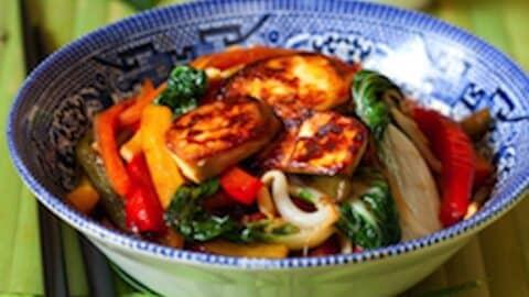 Tofu and bok choy stir fry recipe1