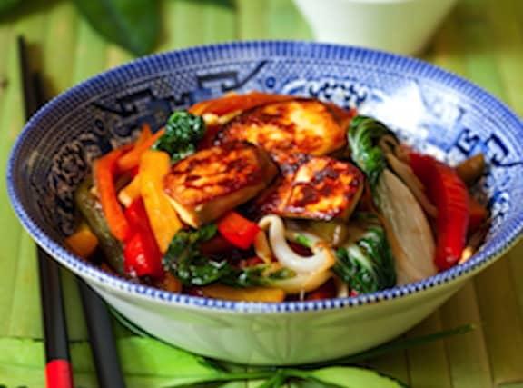 Tofu and bok choy stir-fry recipe