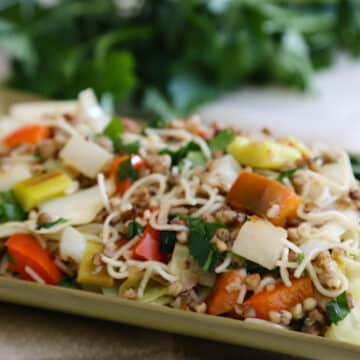 Kasha with Noodles and Veggies