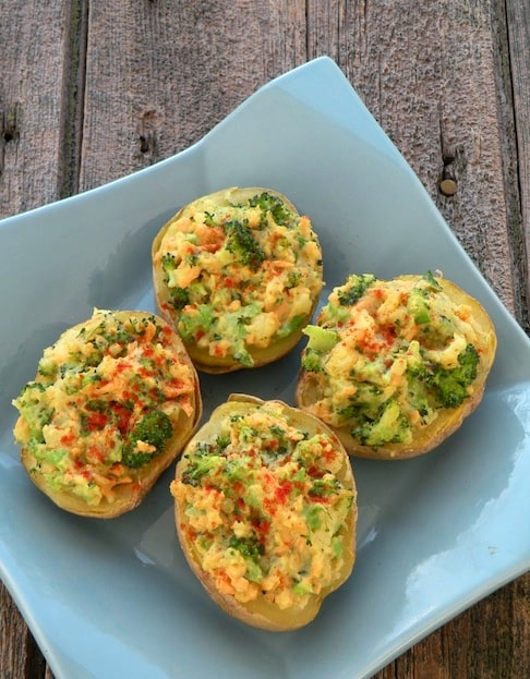 Broccoli stuffed potatoes recipe