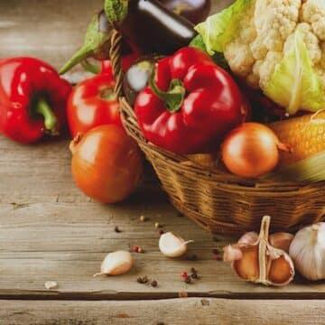 Healthy veggies on table