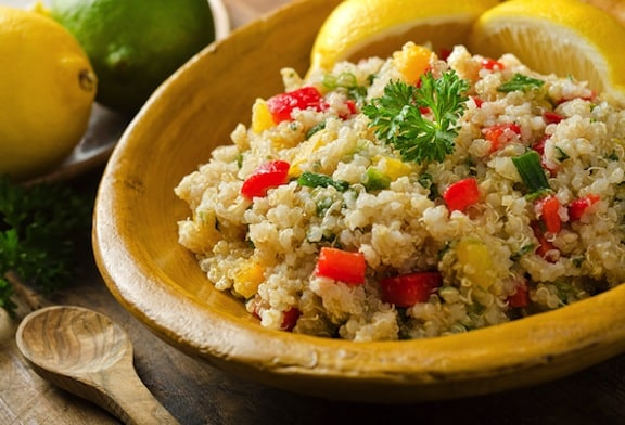 quinoa and bell pepper salad