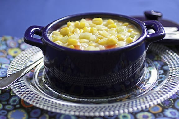 Vegan Creamy Corn Chowder recipe