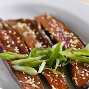 Japanese miso eggplant appetizer