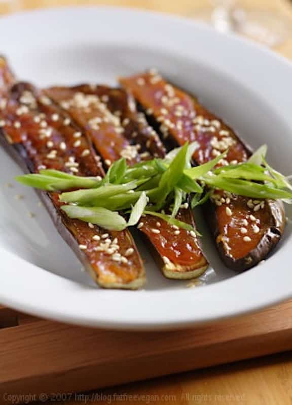 Japanese miso eggplant appetizer recipe