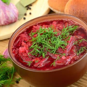 Hot beet borscht recipe
