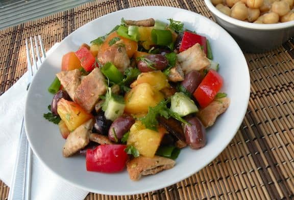 Middle Eastern fattouche salad