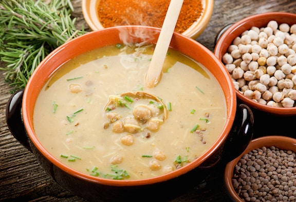Moroccan Lentil and Chickpea Soup (Harira)