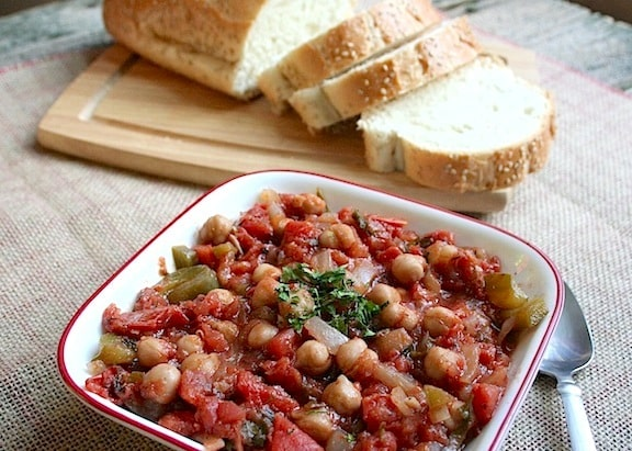 Spanish Garbanzo (chickpea) stew