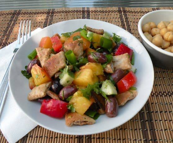 Middle Eastern fattouche salad recipe