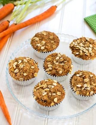 Classic vegan carrot muffins
