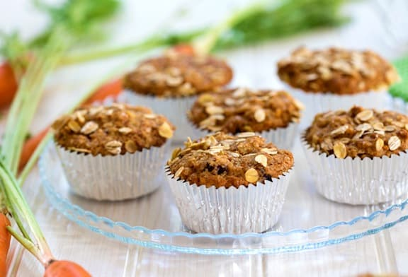 Vegan carrot muffins - recipe