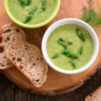 Vegan cream of asparagus soup