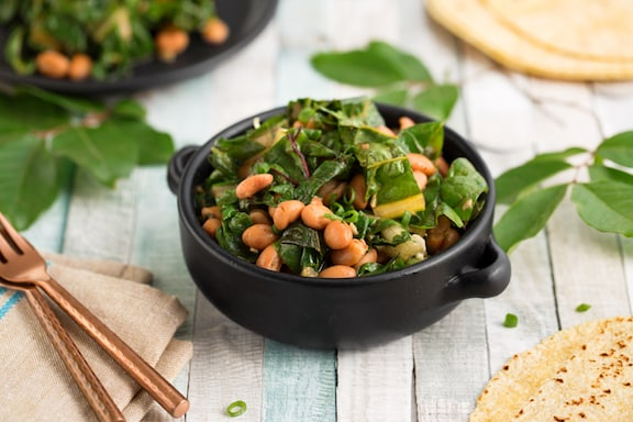 Chard with pinto beans