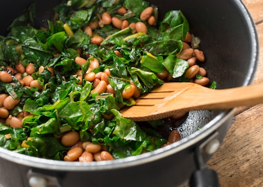 Chard with pinto beans recipe