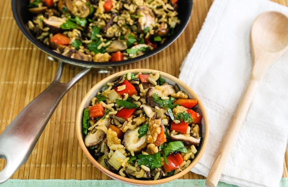 Wild Rice and Mushroom Pilaf