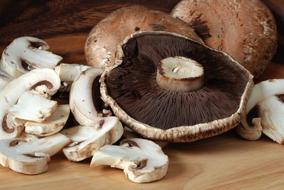 Portabellas and other mushrooms