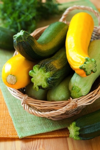 Yellow summer squash and zucchini
