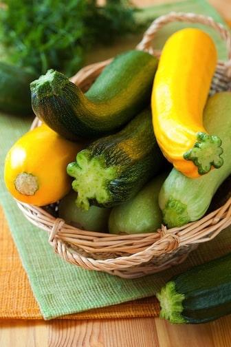 Yellow summer squash and zucchini