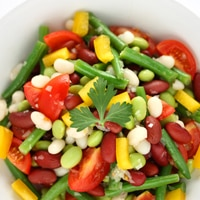 bean dish with veggies