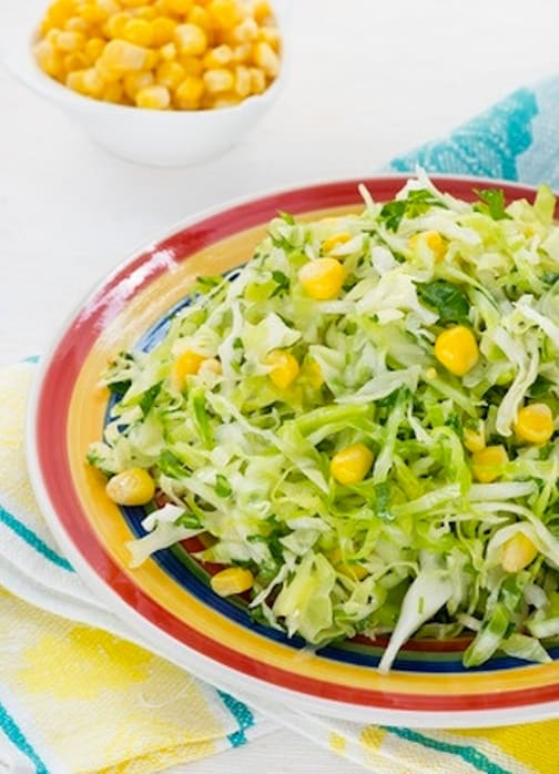 corn and cabbage slaw