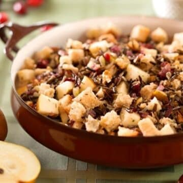 Cranberry wild rice stuffing recipe
