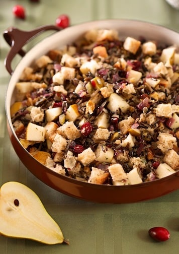 Cranberry wild rice stuffing1