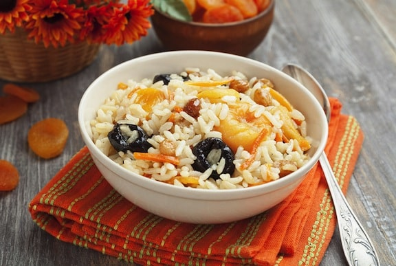 Fruited basmati rice