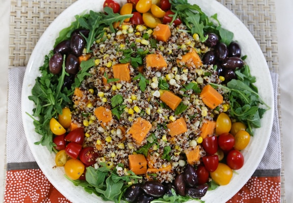 Quinoa, Sweet Potato, and Corn Salad